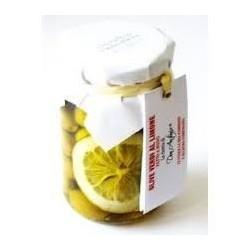 Olives vertes au citron,...